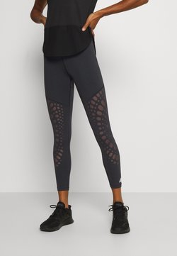 adidas Performance - POWER 7/8 - Legginsy - black