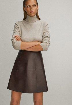 Massimo Dutti - A-linjekjol - brown