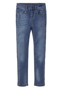 TOM TAILOR - JEANSHOSEN JEANS MIT PUNKTE-PRINT - Straight leg jeans - blue denim|blue
