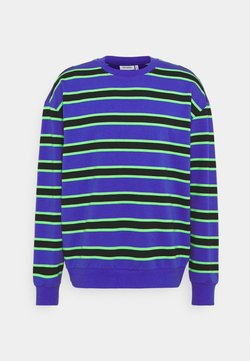 Weekday - OVIE STRIPED - Felpa - bright blue