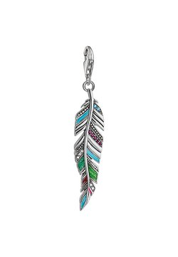 THOMAS SABO - ETHNO FEDER - Anhänger - silver-coloured,red,turquoise,green,pink