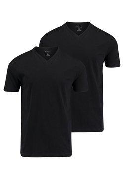 "OLYMP - OLYMP HERREN T-SHIRT ""CITY""- DOPPELPACK V-NECK - T-Shirt basic - schwarz"
