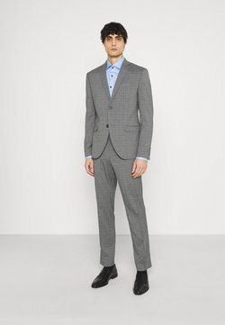 Isaac Dewhirst - CHECK SUIT - Garnitur - grey