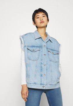 Liu Jo Jeans - GILET PATCH - Smanicato - blue istant wash