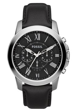 Fossil - GRANT - Montre - schwarz/silver-coloured