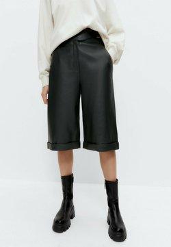 Uterqüe - Pantalon en cuir - dark blue