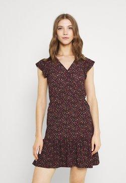 JDY - JDYGITTE SVAN CAPSLEEVE DRESS - Freizeitkleid - black/pink