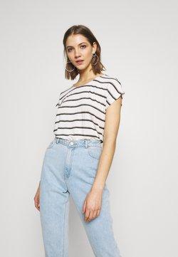 Vero Moda - VMWIDE KATHY STRIPE  - T-Shirt print - snow white