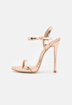 BEBO - SPARRA - High Heel Sandalette - rose gold metallic
