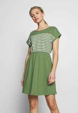 TOM TAILOR DENIM - MINI DRESS WITH STRIPES - Jerseykleid - green
