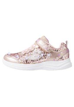 Skechers - GLIMMER KICKS - Sneaker low - gold rock glitter/light pink