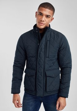 Next - KHAKI SHOWER RESISTANT DIAMOND QUILT JACKET - Winterjacke - blue