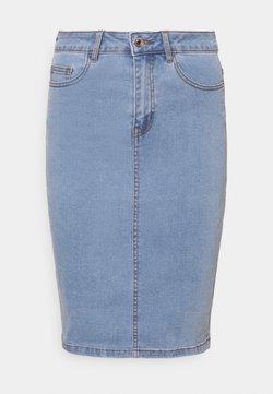Vero Moda Tall - VMHOT PENCIL SKIRT  - Kynähame - light blue denim
