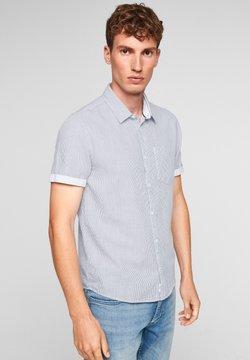 Q/S designed by - EXTRA - Businesshemd - dark blue stripes