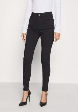 Even&Odd - 5 pocket Skinny high waist - Jeans Skinny Fit - black denim