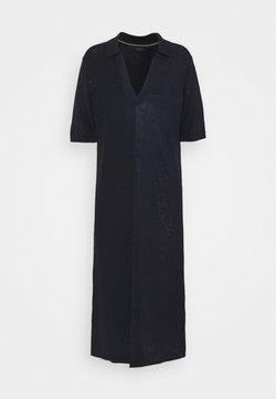 GANT - RIBBED RUGGER DRESS - Strickkleid - evening blue