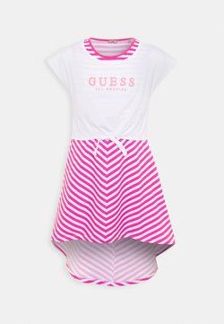 Guess - DRESS - Jerseykleid - pink/white