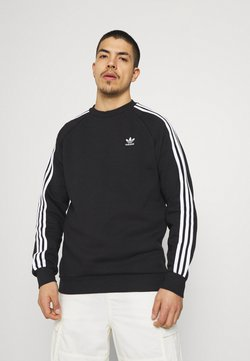 adidas Originals - STRIPES CREW UNISEX - Sweatshirt - black