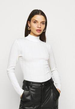 Missguided Petite - HIGH NECK  - Jersey de punto - white