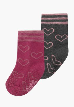 Ewers - HEARTS 2 PACK - Calcetines - marone/anthrazit
