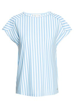 TOM TAILOR DENIM - RELAXED STRIPED TEE - T-Shirt print - blue/white