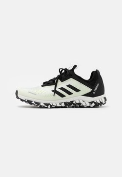 adidas Performance - TERREX AGRAVIC FLOW RUNNING - Zapatillas de trail running - footwear white/core black/solar yellow