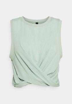 Cotton On Body - RUN WITH IT TWIST TANK - Top - mint chip