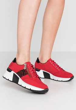 Rieker - Sneakers - rot/schwarz