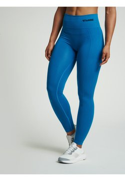 Hummel - SEAMLESS HIGH WAIST  - Tights - mykonos blue