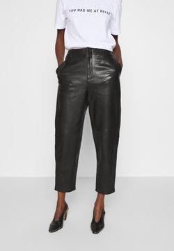 Filippa K - KARLIE TROUSER - Pantalon en cuir - black