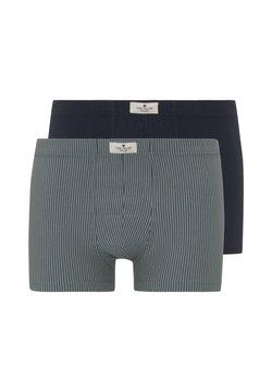 TOM TAILOR - UNDERWEAR HIP-PANTS IM DOPPELPACK - Shorty - green-medium-stripes