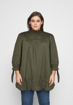 Glamorous Curve - TIE SLEEVE SMOCK DRESS - Day dress - khaki