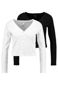 Monki - YING 2 PACK - Cardigan - black/off white