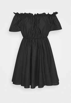 Missguided - BARDOT SKATER DRESS - Freizeitkleid - black