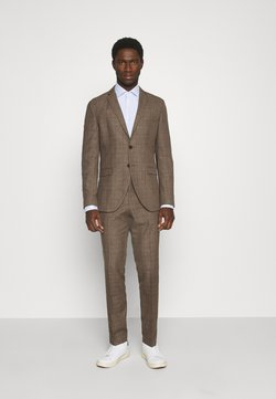 Selected Homme - SLHSLIM MYLOLOGAN CROCUS SUIT - Anzug - brown sugar/red
