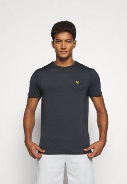 Lyle & Scott - SLEEVE TAPE TEE - T-Shirt basic - true black
