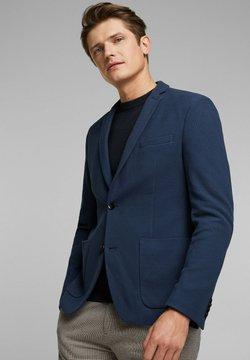 Esprit - HONEYCOMB - Sakko - grey blue
