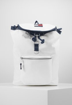 Tommy Jeans - HERITAGE FLAP BACKPACK - Reppu - white