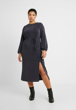 New Look Curves - METALLIC YARN DRESS - Trikoomekko - silver