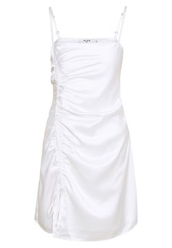 NA-KD - DRAWSTRING DRESS - Cocktailkleid/festliches Kleid - white