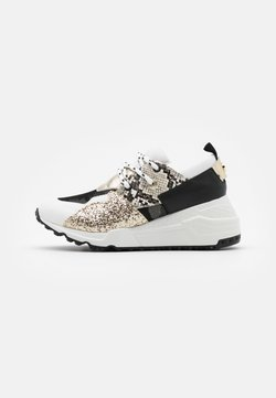 Steve Madden - CLIFF - Sneakers laag - white/gold