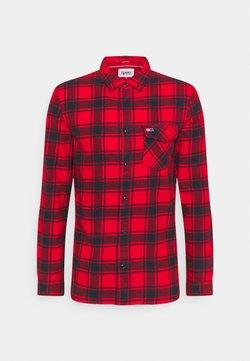 Tommy Jeans - PLAID SHIRT - Vapaa-ajan kauluspaita - deep crimson check