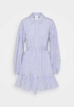 Cinq à Sept - KELLY DRESS - Blusenkleid - deep ultramarine/white