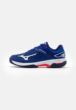Mizuno - WAVE EXCEED TOUR 4 CC - Tennisschoenen voor kleibanen - reflex blue/white/diva pink