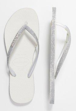 Havaianas - SLIM FIT SPARKLE - Zehentrenner - white