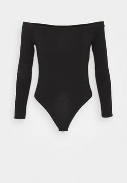 Missguided Tall - LONG SLEEVED BARDOT - Maglietta a manica lunga - black