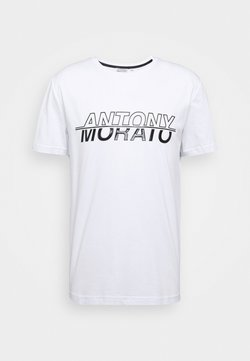 Antony Morato - ROUND COLLAR WITH LOGO PRINT ON FRONT - T-shirt print - white