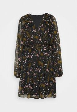 Vero Moda Tall - VMHADDIE SHORT GATHERING DRESS - Korte jurk - black/haddie