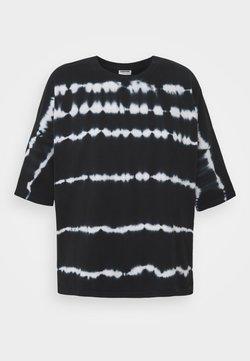 Noisy May Tall - NMBUSTER TIE DYE - T-Shirt print - black