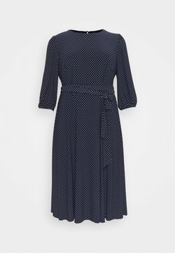 Lauren Ralph Lauren Woman - FELIA LONG SLEEVE DAY DRESS - Jerseykleid - lighthouse navy/colonial